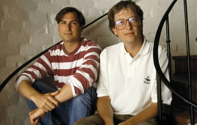 Steve Jobs e Bill gates juntos