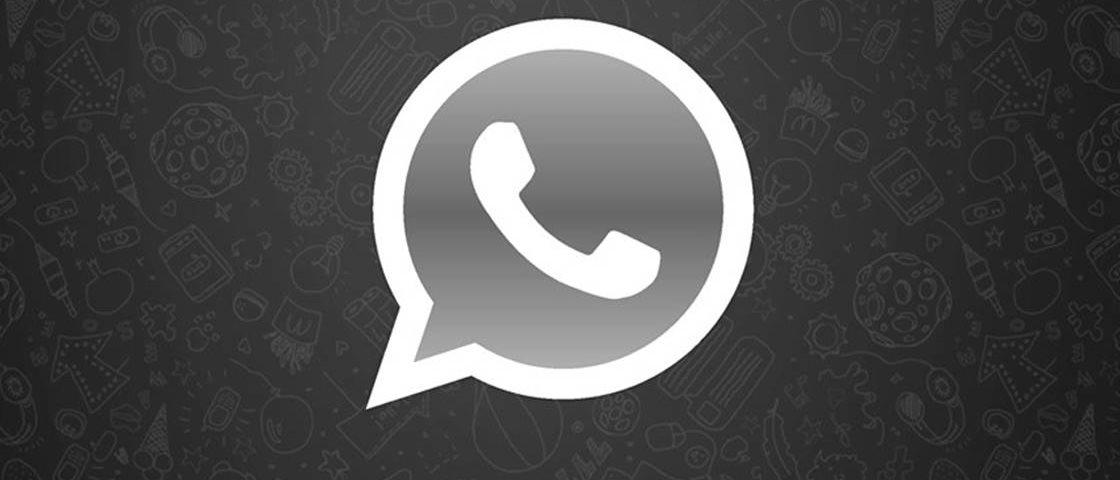 Logomarca do whatsapp em preto e branco