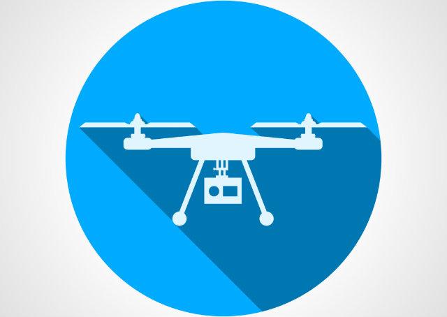 Imagem em forma de desenho de um Drone